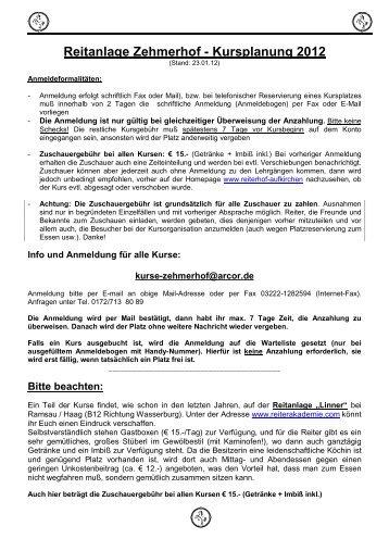 Reitanlage Zehmerhof - Bayerische Reitkunstschule