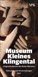 Museum Kleines Klingental - Denkmalpflege