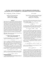 on total variation denoising: a new majorization ... - CiteSeer