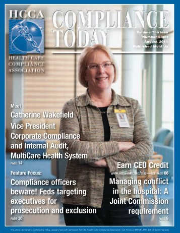 Compliance Today - Health Care Compliance Association