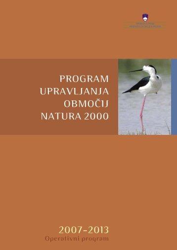 Program upravljanja območij Natura 2000 2007-2013
