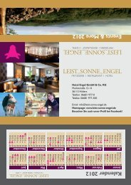 Events & More 2012 - LEIST_SONNE_ENGEL