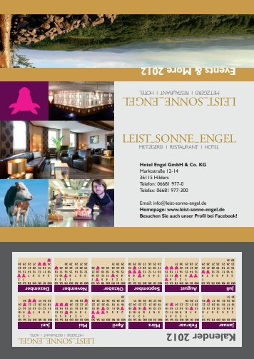 Events & More 2012 - LEIST_SONNE_ENGEL
