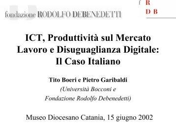 Presentazione di Tito Boeri - Fondazione Rodolfo DeBenedetti