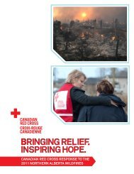 canadian red cross response to the 2011 northern alberta wildfires