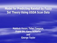 Model for Predicting Rainfall by Fuzzy Set Theory Using USDA Scan ...