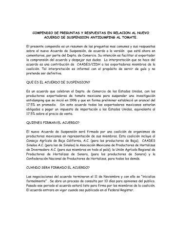 COMPENDIO DE PREGUNTAS Y RESPUESTAS EN RELACION AL ...