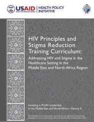 HIV principles and stigma reduction training curriculum: Addressing