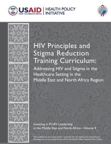 HIV principles and stigma reduction training curriculum: Addressing
