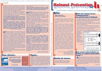 Hainaut Prévention Info N° 5 - La Province de Hainaut