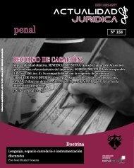 RECURSO DE CASACIÓN. - Actualidad Jurídica