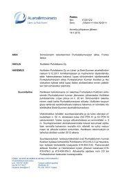 Päätös Nro 47/2012/2 Dnro LSSAVI/111/04.09/2011 Annettu ...