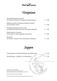 Vorspeisen Suppen - Hotel Victoria