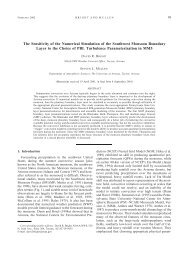 The Sensitivity of the Numerical Simulation of the Southwest ...