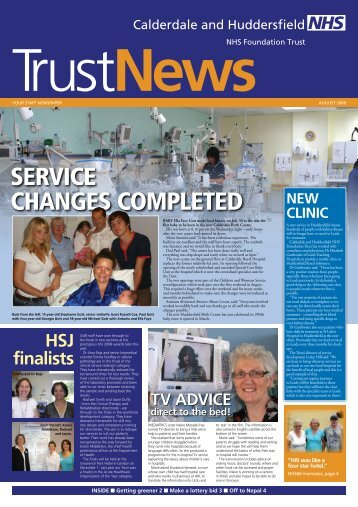 service changes completed - Calderdale and Huddersfield NHS ...