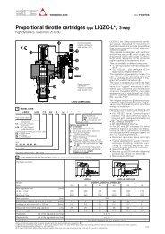 Proportional throttle cartridges type LIQZO-L*, 3-way