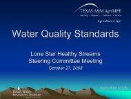 Water Quality Standards - Lone Star Healthy Streams Program