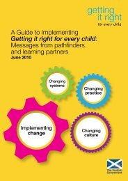 A Guide to Implementing Getting it right for every child: Messages ...