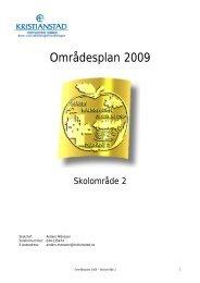Områdesplan 2009 - Buf - Kristianstad