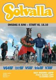 ONSDAG 8 JUNI – START KL 18.10 - Solvalla
