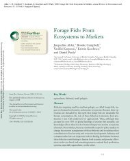 Forage Fish: From Ecosystems to Markets - Sea Around Us Project