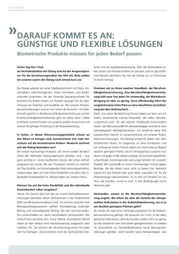 SDV AG 03/2012 - Dialog Lebensversicherungs-AG
