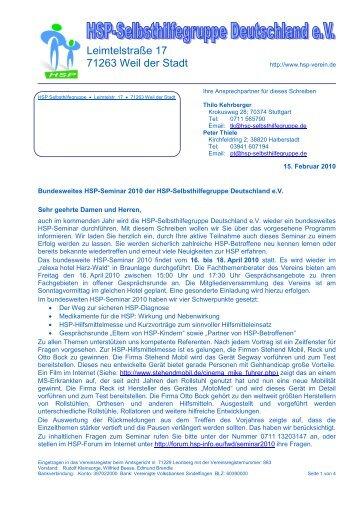 Einladung Braunlage 2010_v06 - HSP-Selbsthilfegruppe ...