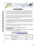 2013 Sponsorship Agreement Form - Ophthalmology Innovation ... - Page 5