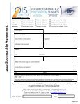 2013 Sponsorship Agreement Form - Ophthalmology Innovation ... - Page 6