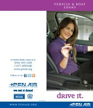 VEHICLE & BOAT LOANS - Pen Air Federal Credit Union