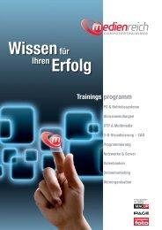 medienreich Computertrainings - Trainingsprogramm 2010 und 2011