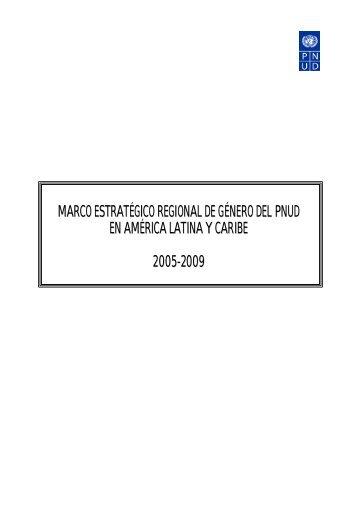 Marco Estratégico Regional de Género del PNUD en América ...