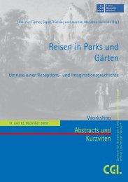 Broschüre Reisen in Parks und Gärten - des Zentrums für ...