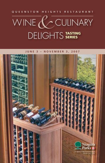 WINE&CULINARY DELIGHTS TASTING - Niagara Parks