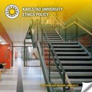 KARLSTAD UNIVERSITY ETHICS POLICY