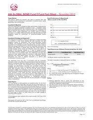 AIA Global Bond Fund 5 Fund Fact Sheet - November 2012
