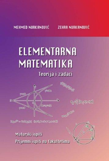 Elementarna matematika - Teorija i zadaci - PMF