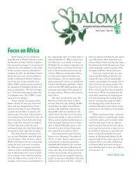 Summer 2007 - Focus on Africa - Brethren in Christ Church