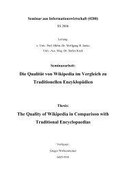 Die Qualität von Wikipedia im Vergleich zu Traditionellen ...