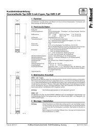 Ozonmesszelle Typ OZE 3-mA-2 ppm - ProMinent