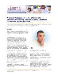 A Clinical Assessment of the Efficacy of a ... - DentalCare.com