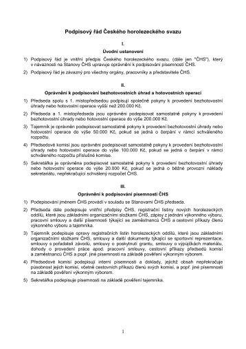 Podpisový řád Českého horolezeckého svazu