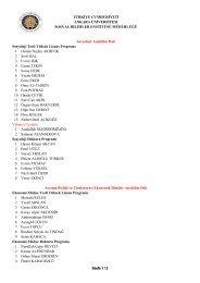 Kesin Kayıt Hakkı Kazananların Listesi-2 - Sosyal Bilimler Enstitüsü