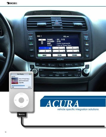 Acura - iPhone car kit