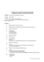 Protokoll der 84. Ordentlichen Generalversammlung - AGIV