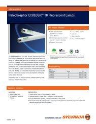 Halophosphor ECOLOGIC® T8 Fluorescent Lamps - Osram Sylvania