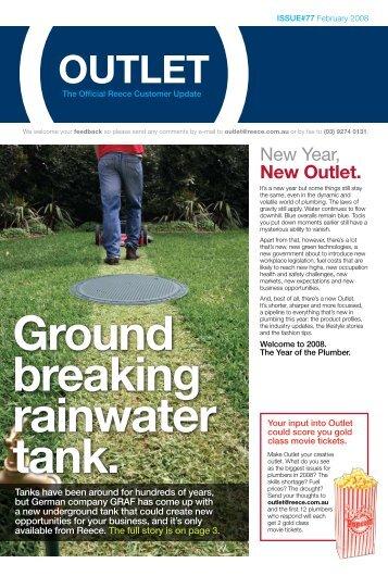 Reece ™ | Plumbing | Outlet Magazine | 2008 | February