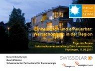 Schweizerischer Fachverband für Sonnenenergie - Zürich Erneuerbar
