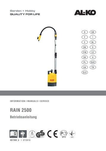 RAIN 2500 - AL-KO Garten + Hobby