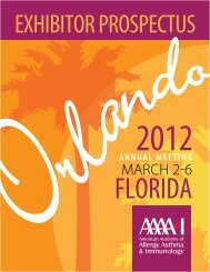 EXHIBITOR PROSPECTUS - American Academy of Allergy, Asthma ...